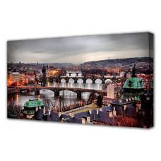Панно (100х50 см) Пражские мосты C-12272H