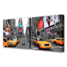 Набор из 2 панно (100х50 см) По улицам Нью-Йорка S-4029H