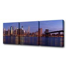Набор из 3 панно (150х50 см) Через Бруклинский мост S-4058H
