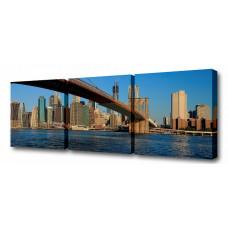 Набор из 3 панно (150х50 см) Через Бруклинский мост S-4059H