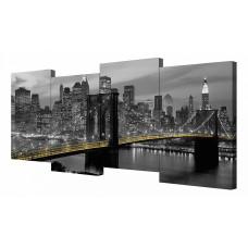 Набор из 4 панно (200х75 см) Мост S-4139H