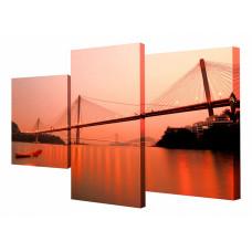 Набор из 3 панно (78х50 см) Мост XT-007