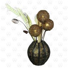 Настольная лампа декоративная Ротанг 9 376030703
